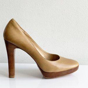 Michael Kors round toe nude platform stiletto